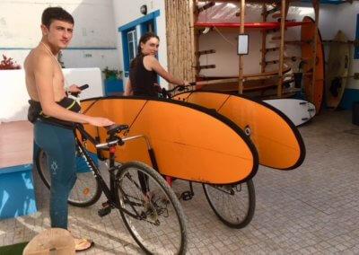 Rack à planche vélos